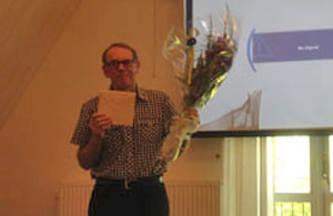 Vattenrådets sekreterare Peter Göransson avtackades efter 26 år som aktiv i Helsingborgs kommun och Rååns vattendragsförbund – numera Vattenråd.